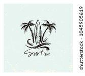 logo for the surfer camp...   Shutterstock .eps vector #1045905619