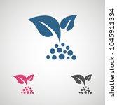 flat leaves icons. vector... | Shutterstock .eps vector #1045911334