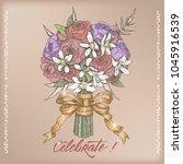 eelgant vintage wedding...   Shutterstock .eps vector #1045916539