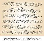 set of decorative elements.... | Shutterstock .eps vector #1045919734