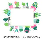 summer greeting card with... | Shutterstock .eps vector #1045920919
