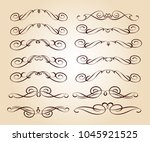 calligraphic elegant elements... | Shutterstock .eps vector #1045921525