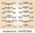 design elements.decorative... | Shutterstock .eps vector #1045922881