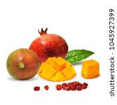 fresh garnet  nutritious and... | Shutterstock .eps vector #1045927399