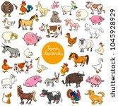 cartoon illustration of farm... | Shutterstock .eps vector #1045928929