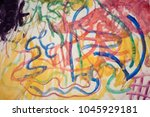 abstract drawing on paper | Shutterstock . vector #1045929181