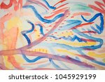 abstract drawing on paper | Shutterstock . vector #1045929199