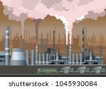 industrial landscape with the... | Shutterstock .eps vector #1045930084