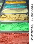 Small photo of Multiple color gelato in freezer