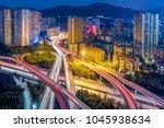 chongqing overpass scenery   Shutterstock . vector #1045938634