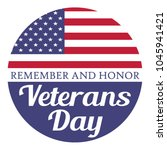 veterans day. remember and... | Shutterstock .eps vector #1045941421