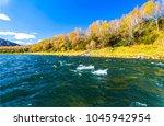 autumn river water landscape   Shutterstock . vector #1045942954