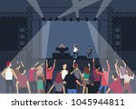 large group of people or music... | Shutterstock .eps vector #1045944811