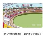 colorful drawing of cricket... | Shutterstock .eps vector #1045944817