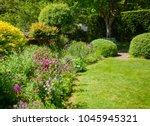 green summer walled english... | Shutterstock . vector #1045945321