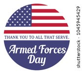armed forces day. thank you to... | Shutterstock .eps vector #1045945429