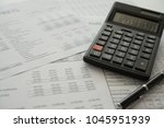 bookkeeping accounting concept. ...   Shutterstock . vector #1045951939