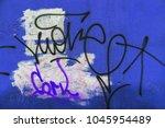 beautiful street art graffiti.... | Shutterstock . vector #1045954489