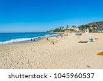 laguna beach  ca  usa  ... | Shutterstock . vector #1045960537