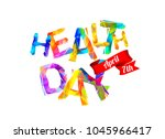 health day. april 7th. vector... | Shutterstock .eps vector #1045966417