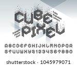 vector of cube alphabet letters ... | Shutterstock .eps vector #1045979071