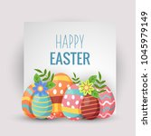 vector illustration of happy... | Shutterstock .eps vector #1045979149