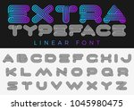 font vector alphabet technology ... | Shutterstock .eps vector #1045980475