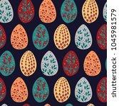 easter authentic egg pattern....   Shutterstock .eps vector #1045981579