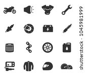 motorcycle  simple icons set.... | Shutterstock .eps vector #1045981999