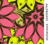 seamless floral background.... | Shutterstock .eps vector #1045983799