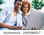 african american hipsters... | Shutterstock . vector #1045988317