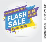 flash sale. mega sale  sale... | Shutterstock .eps vector #1045991134