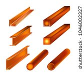 hot rolled metal products....   Shutterstock .eps vector #1046002327