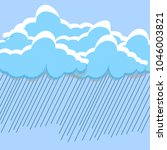 cartoon white clouds isolated... | Shutterstock .eps vector #1046003821