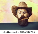 bearded man  long beard. brutal ... | Shutterstock . vector #1046007745