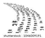 illustration of rush hour... | Shutterstock .eps vector #1046009191