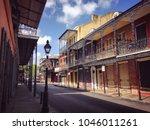 scene from french quarter   new ... | Shutterstock . vector #1046011261