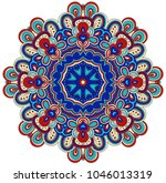 round symmetrical pattern in... | Shutterstock .eps vector #1046013319