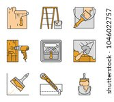 construction tools color icons... | Shutterstock .eps vector #1046022757