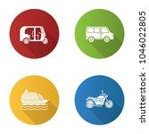 public transport flat design...   Shutterstock .eps vector #1046022805