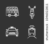 public transport chalk icons... | Shutterstock .eps vector #1046022811