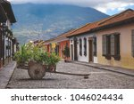 antigua guatemala  an ancient... | Shutterstock . vector #1046024434