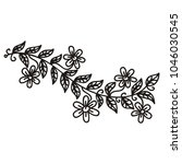 floral branch. vector... | Shutterstock .eps vector #1046030545