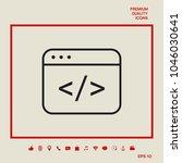 code editor icon   Shutterstock .eps vector #1046030641