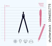 drawing compass symbol  | Shutterstock .eps vector #1046031775