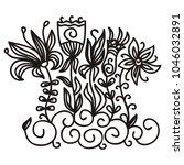 flowers. vector illustration | Shutterstock .eps vector #1046032891
