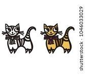cat. vector illustration | Shutterstock .eps vector #1046033029