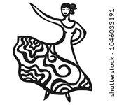 flamenco. vector illustration | Shutterstock .eps vector #1046033191