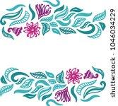floral background. vector... | Shutterstock .eps vector #1046034229