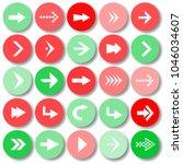 arrow sign icon set vector... | Shutterstock .eps vector #1046034607